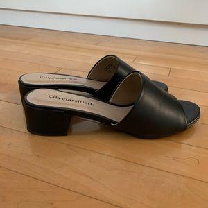 CITYCLASSIFIED mule sandals